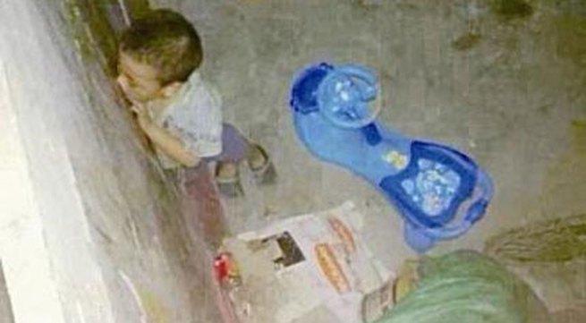 Phẫn nộ bé trai 5 tuổi bị bà nội bỏ đói, nhốt trong nhà kho vì lấy trộm tiền