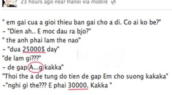 Hồng Quế tự ra giá 30.000 USD?