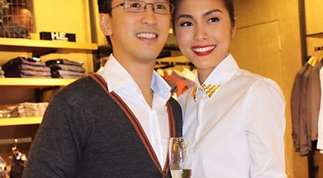 Vợ chồng Tăng Thanh Hà xuất hiện tình tứ sau hôn lễ