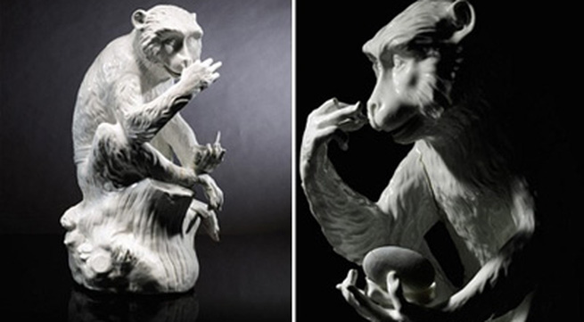 Chiêm ngưỡng con khỉ bằng sứ giá 27 tỷ đồng