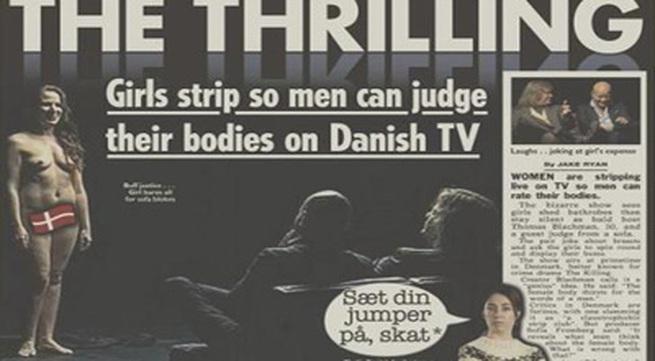 Đem phụ nữ khỏa thân ra cho nam giới bình luận, một show truyền hình bị la ó