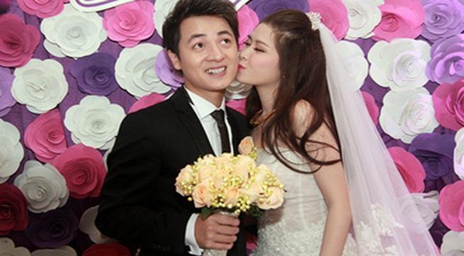 Vợ Đăng Khôi bất ngờ hôn má chồng trong đám cưới