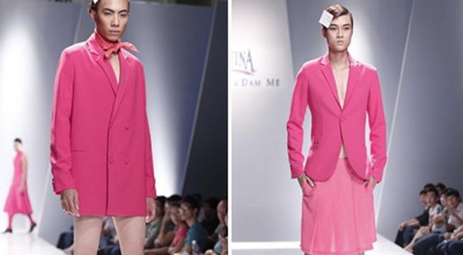 Khi người mẫu nam chuộng áo ren mỏng, váy xòe
