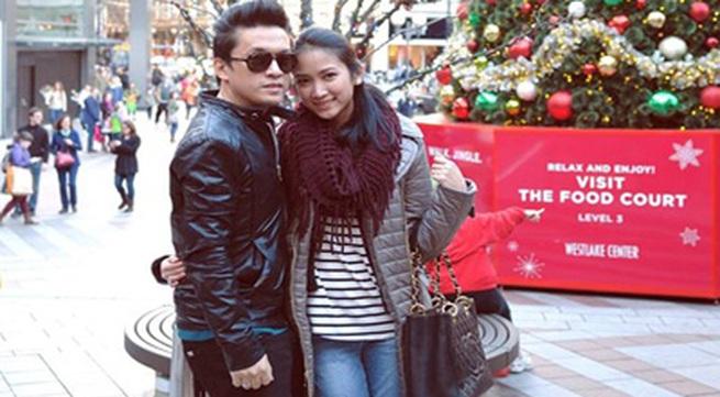 Vợ hot girl khoe ảnh tình tứ bên Lam Trường dịp Giáng sinh
