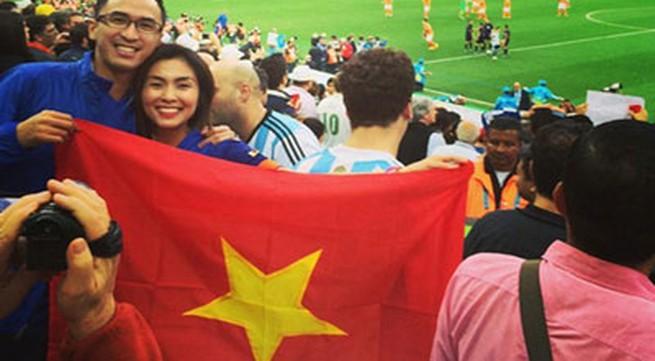Tăng Thanh Hà bị 'ném đá' vì cầm ngược cờ Tổ quốc