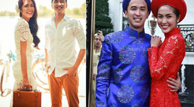 """Chọn áo dài và váy cưới """"chuẩn"""" như Tăng Thanh Hà"""