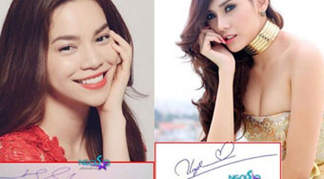Tò mò chữ ký của sao Việt