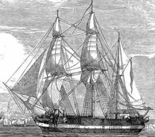 Tàu HMS Erebus mất tích năm 1846 tại Bắc Cực. Ảnh: Wikimedia