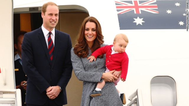The royal family leaves an airbase in Australia to head back to the United Kingdom on April 25. They took a three-week tour of Australia and New Zealand. It was the first official trip overseas since Georges birth.