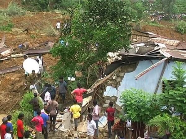 Hiện trường vụ lở đất.Nguồn: asianmirror.lk