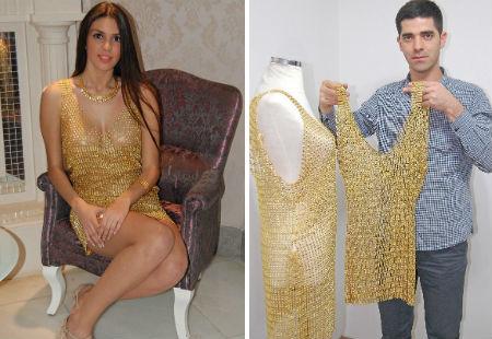 Chiếc váy làm bằng vàng khá sexy
