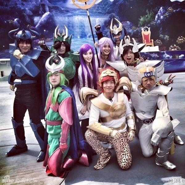 Sáng 9/3, ê kíp show truyền hình ăn khách Running Man 2 phiên bản Trung Quốc đã được tổ chức trên dường phố Thành Đô.