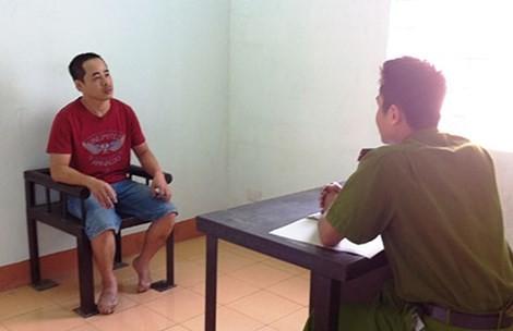 Phan Trung Huy tại cơ quan điều tra.