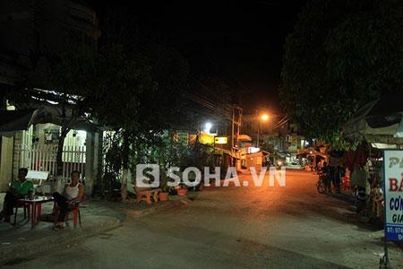 Hình ảnh khu nhà của Ngọc Trinh vào buổi tối