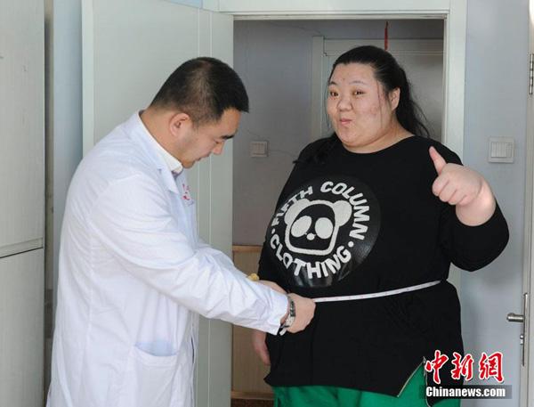 Sau 4 tháng nỗ lực, hiện Liu đã giảm được 51,5 kg. Cô cho biết với thành công này, con đường để biến ước mơ mặc vừa một chiếc áo cưới trở thành hiện thực đã đi được một nửa.  Sau 4 tháng, vòng eo của Liu đã giảm từ 188 cm xuống còn 138 cm.