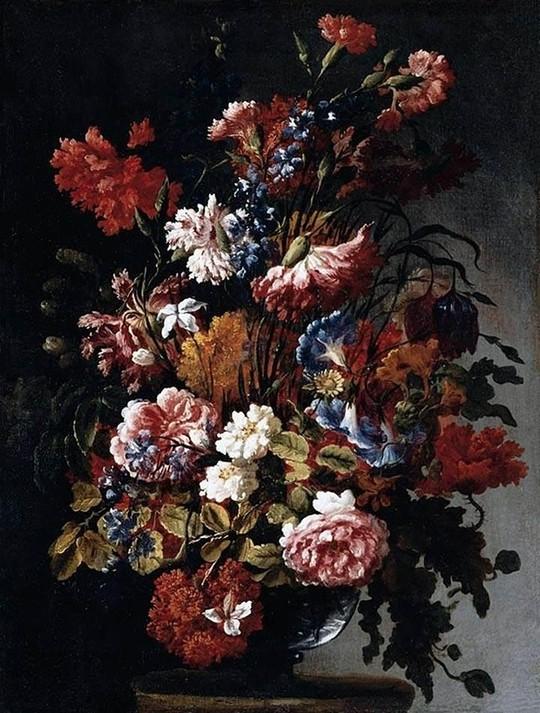"Họa phẩm ""Flowers"" của Paolo Porpora. Ảnh: The Guardian"