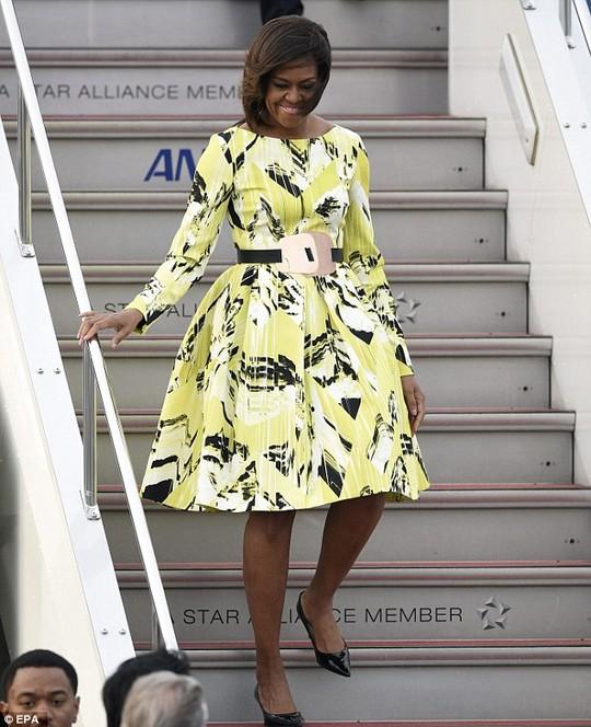 Bà Obama trong chuyến thăm Nhật Bản hôm 18-3. Ảnh: EPA