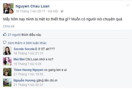 Dòng chia sẻ cuối cùng của chị Loan trên facebook
