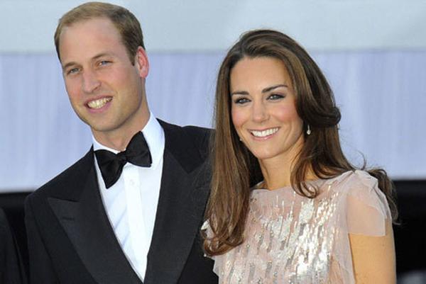 Hoàng tử William và vợ, công nương Kate. Ảnh: The Star