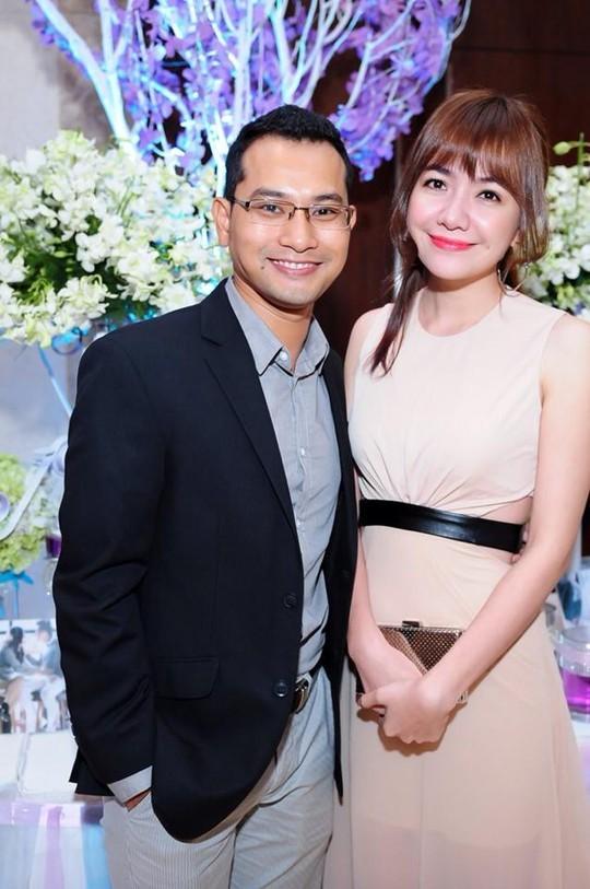 Vợ chồng Huỳnh Đông đi sự kiện. Ảnh: NVCC.