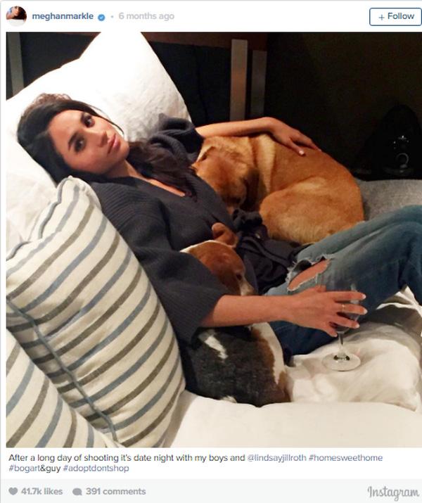 Ngày nghỉ, cô nàng thích việc ở nhà với chú chó nhỏ yêu quý hơn là việc ra ngoài.