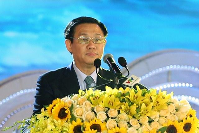 Phó Thủ tướng Vương Đình Huệ phát biểu tại buổi lễ