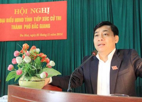 Thời điểm sai phạm xảy ra, ông Dương Văn Thái là Chủ tịch UBND TP. Bắc Giang và sau đó được thăng lên làm Phó chủ tịch UBND tỉnh Bắc Giang. (ảnh: Cổng TTĐT Bắc Giang)