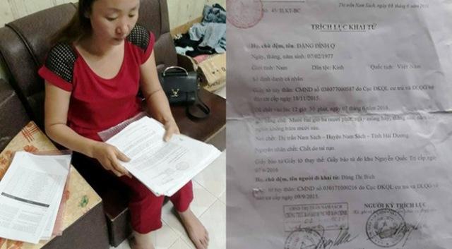 Gia đình bà Đặng Thị Bích rơi vào bi kịch sau khi Bảo hiểm Prudential thông báo: Anh Đặng Đình Q. - người đã tử vong được chẩn đoán nhiễm HIV từ trước. Ảnh: PV