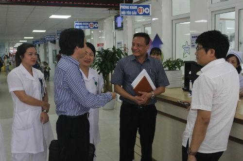 Đoàn công tác do ông Cao Hưng Thái - Phó Cục trưởng Cục Khám chữa bệnh (Bộ Y tế) thăm và làm việc tại Bệnh viện Trẻ em Hải Phòng ngày 11/10/2017.