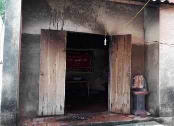 Hiện trường vụ cháy nhà khiến ông Ứng tử vong