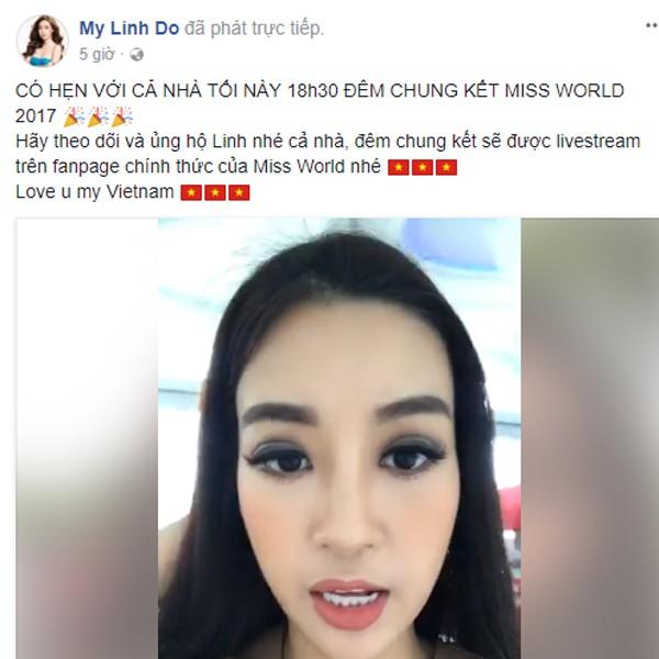 Đỗ Mỹ Linh livestream cho biết cô đã sẵn sàng