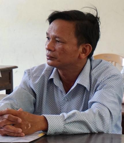 Ông Hồng là thí sinh cao tuổi nhất tại cụm thi tại Nghệ An.
