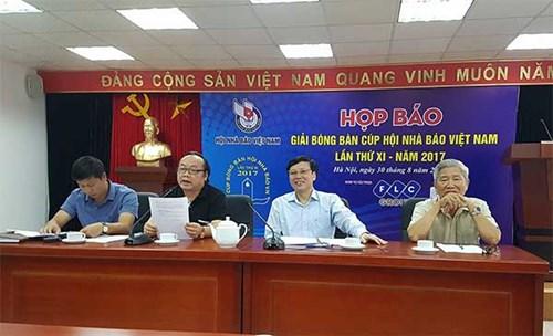 Ông Trần Gia Thái - Chủ tịch Liên đoàn Bóng bàn Việt Nam, nguyên Phó chủ tịch Hội nhà báo Việt Nam chia sẻ tại buổi họp báo.