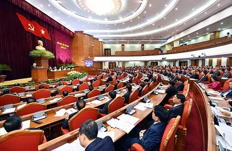 Tổng Bí thư Nguyễn Phú Trọng nêu rõ, đây là vấn đề rất lớn và khó, có ý nghĩa đặc biệt quan trọng, liên quan đến việc bảo vệ, phát triển giống nòi, quốc gia, dân tộc. Ảnh Nhật Bắc