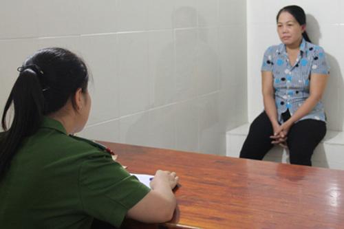 Phan Thị Kim Loan tại cơ quan điều tra