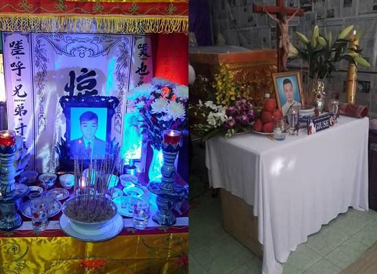 Di ảnh của Chí Ngôn và Gia Khang trong buổi tang lễ.
