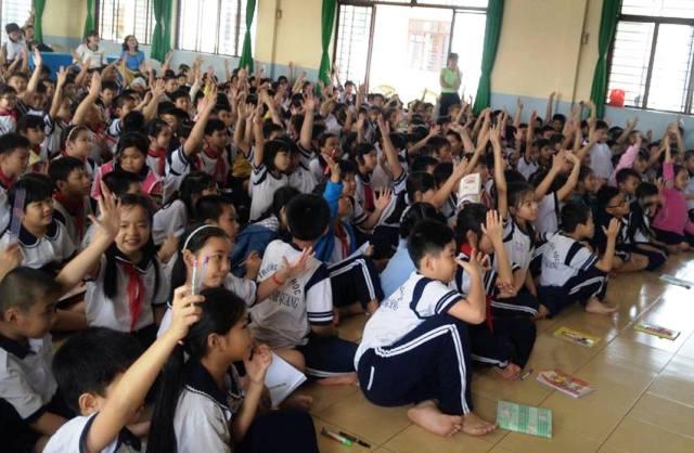Học sinh tiểu học ở TPHCM tham gia chuyên đề phòng chống xâm hại tình dục