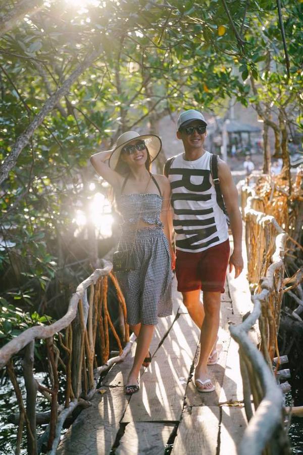 Vợ chồng nữ diễn viên thường đi du lịch vào các dịp cả hai cùng rảnh rỗi để hâm nóng tình cảm vợ chồng.