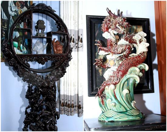 Những vật trang trí đắt đỏ được bố mẹ Lâm Khánh Chi dày công sưu tập.