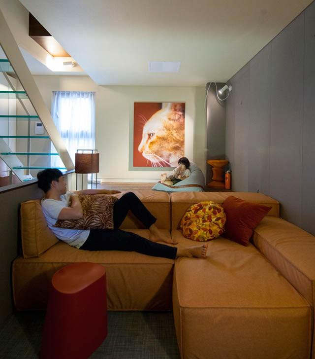 Phòng khách ấm cúng.