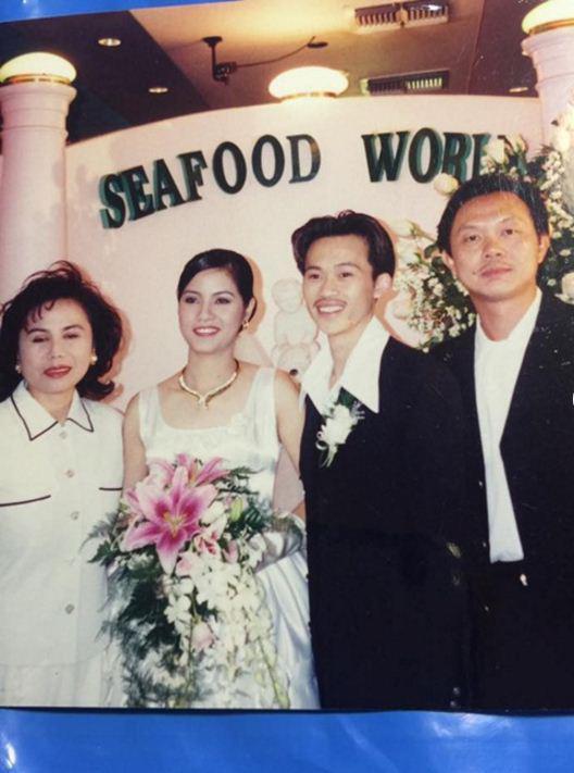 Hình ảnh hiếm hoi trong đám cưới của danh hài Hoài Linh tại Mỹ.
