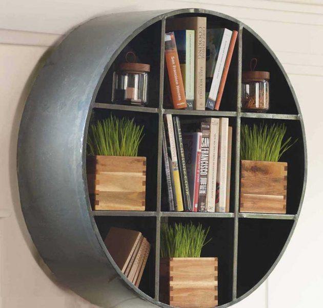 Thiết kế kệ tròn vô cùng chắc chắn này sẽ giúp bạn lưu trữ sách, cây cảnh và các vật dụng khác.