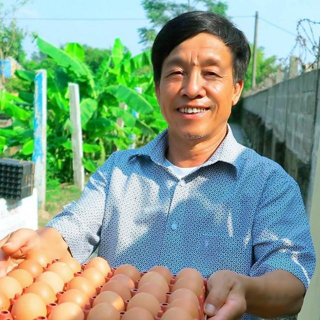 Trung bình mỗi năm trang trại của ông Phạm Văn Tràng cung cấp ra thị trường khoảng 4,5 triệu quả trứng gà.
