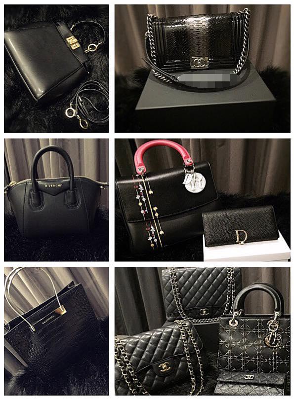Bộ sưu tập túi xách đến từ các thương hiệu nổi tiếng được cô nàng chia sẻ trên trang cá nhân.