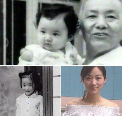 Hàn Tuyết cùng ông nội.