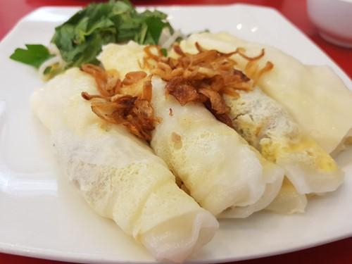 Đổi vị với bánh cuốn trứng gà nhân thịt bằm Thiên An