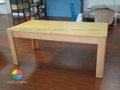 Thiết kế này sẽ giúp bạn biến hình chiếc bàn ăn trở lên lớn hơn khi sử dụng chỉ bằng 1 vài thao tác cực kỳ đơn giản. Thật linh hoạt và tiện lợi.
