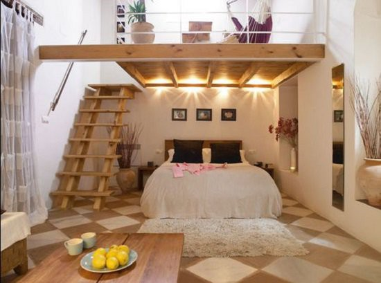 Thiết kế giường ngủ dưới tầng thay vì trên gác lửng như nhiều ngôi nhà cấp 4 thông thường.