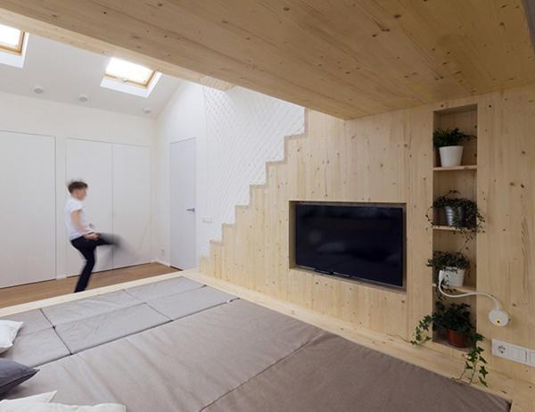 Diện tích được tận dụng để sắp xếp đồ nội thất một cách hợp lý