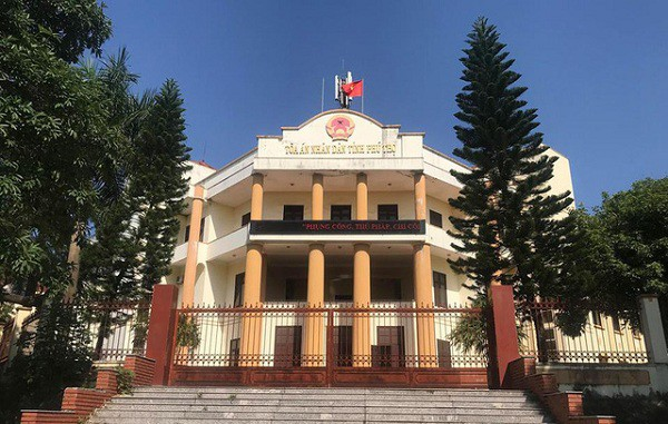 Tòa án tỉnh Phú Thọ- nơi diễn ra phiên xử. (ảnh: HC)